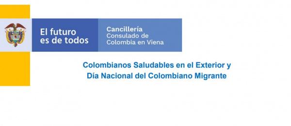 Consulado de Colombia en Viena presenta las iniciativas Colombianos Saludables en el Exterior y Día Nacional del Colombiano