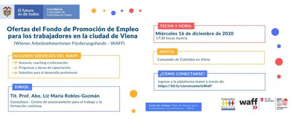 Conversatorio virtual sobre las ofertas del Fondo de Promoción de Empleo para los trabajadores en la ciudad de Viena