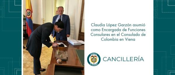 Claudia López Garzón asumió como Encargada de Funciones Consulares en el Consulado de Colombia en Viena